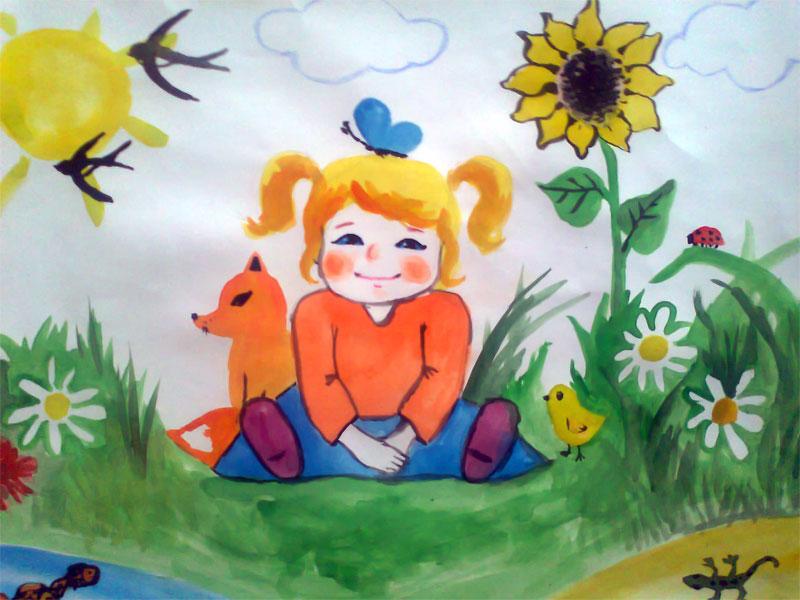 рисунок детей красота природы